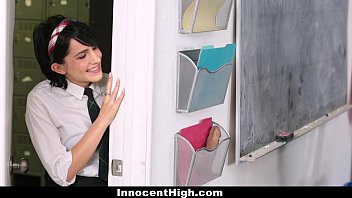 InnocentHigh - Cutie (Allora Ashlyn) Fucked Both Her Teachers