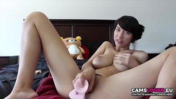 Amazing! Cute brunette girl make webcam show!