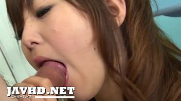 Horny asian maid blowjob for two from Miku Airi thumbnail