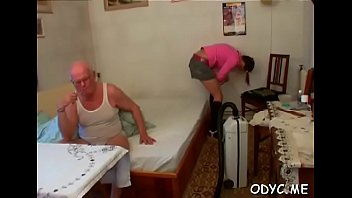 Stunning amateur babe gives an old dude a steamy oral-stimulation