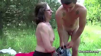 18yr old Boy Fuck 61yr old Hairy Granny in Ass in Public pornhub video