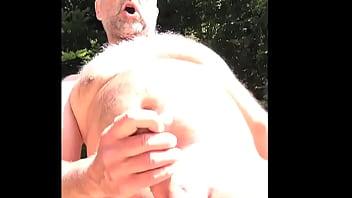 wild cum in public