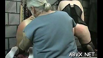 Rough lesbian slavery in amateur scenes along hot babes