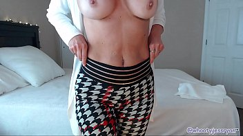 Mature wife stripping - Sexy mom with tan lines big boobs strips and teases