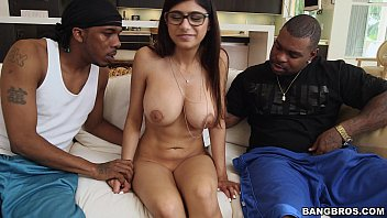Mia Khalifa meets 2 Big Black Cocks