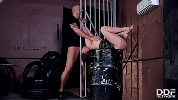 Master Dominates Cathy Heaven &amp_ Fucks Her Ass While Penetrating Her Pink