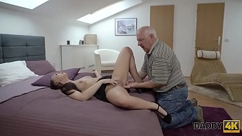 DADDY4K. Old gentleman easily seduces beautiful redhead to have fun