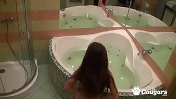 Mia Caught On Hidden Bathroom Cam Masturbating