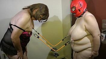 Granny bondage tit torture - 05-aug-2015 sissy seffie and slut slave nipple torture sklavinnen/sklavinsklave/slave