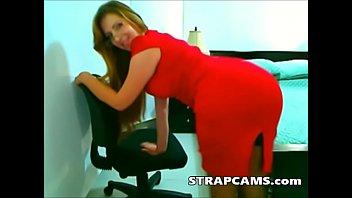 Beautiful Milf Striptease In Office On Webcam
