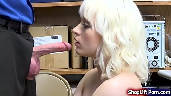 Teen shoplifter fucked by store security