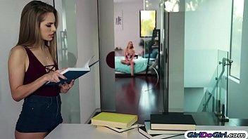 Kimmy Granger seduces her adopted sis Aubrey into having sex