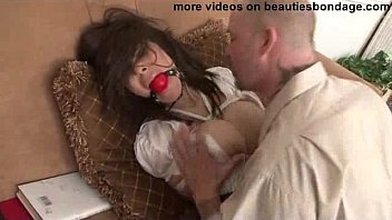 Bondage and ball gags Busty secretary ashley renee bound and fucked hard by a bad guy