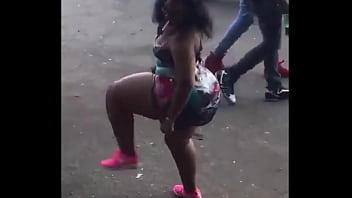 Big Booty African Queen Twerking Upskirt