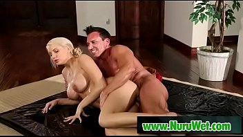 Marco Banderas &amp_ Kenzie Taylor - Busty masseuse gets her boobs fucked