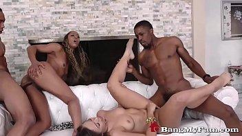 Adriana Maya Fucks Nephew & Missy Stone Fucks Stepdad In Ebony Fam Sex