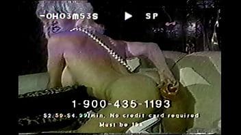 A ClassicXXX phone Ad: Solo Anal Scene