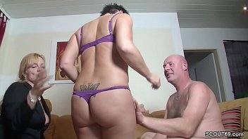 Real German Couple In Female Casting with Big Tit MILF