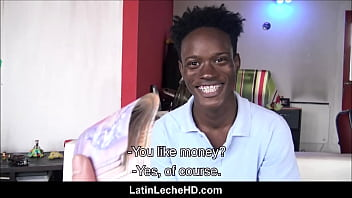Straight Ebony Twink With Braces And From Jamaica Paid To Fuck Gay Filmmaker POV