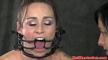 Lesbian sub analy hooked while hairpulled
