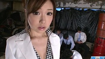 Office colleague sexual tension Aiko hirose gets fucked by all her office colleagues