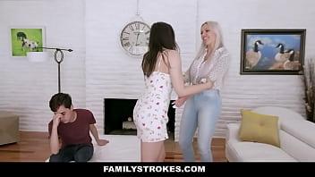 Amina Fara , Nina Elle A Thrilling Stepmom Threesome thumbnail