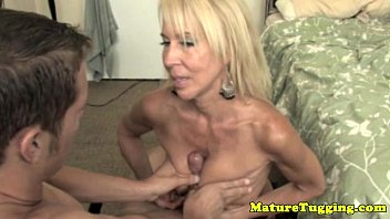 Old mature handjobs Handjob loving granny pampering dick
