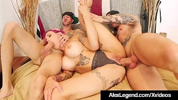Inked Milf Anna Bell Peaks Wrecked By Alex Legend & Bro!