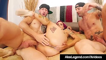 Image: Inked Milf Anna Bell Peaks Wrecked By Alex Legend & Bro!