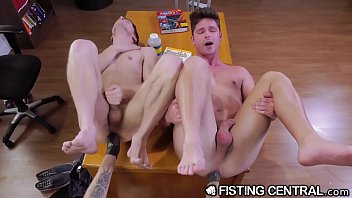 Gay rights by Fistingcentral college boys get distracted by rough anal fisting