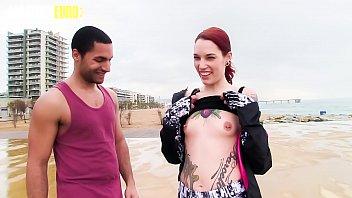AMATEUR EURO - Spanish Pornstar Silvia Rubi Fucks With Guy From The Beach