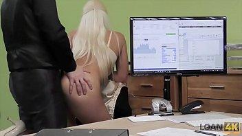 LOAN4K. Blonde goddess offers her wet slits for necessary credit