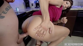 Lexi Luna needs satisfaction immediately and stepson offers his cock and she gobbles it