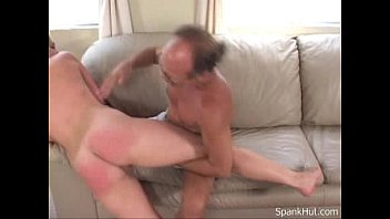 Spanking her Redhot ass