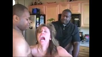 Screaming milf fucked hard and gets creampie