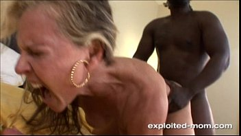 Interracial wife blond mature moms Blonde milf gets her back blown out by a big black cock interracial video