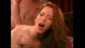 Juicy young nurse with red gaunt figure and red hair Gwen Summers perfoms medical duties at patient's home