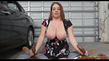 Maggie Green double handjob with black cocks