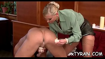 Boy gets tied up and ass fucked in hot femdom fetish act