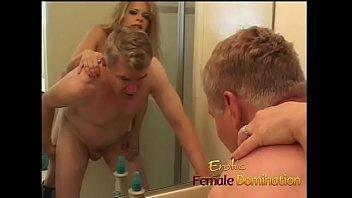 Dominatrix female mature Busty milf dominatrix humiliates her slave with some hardcore pegging
