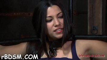 Prurient brunette bimbo who was eager to do something