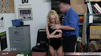 Extra small mini blond chick was shoplifting and caught
