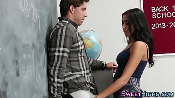 Latina teen gets cumshot