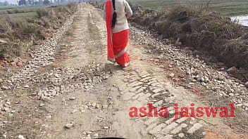 Desi village aunty was going alone, she was patted