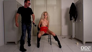 Philadelphia bondage rooms - Domination action in the locker room shows monique woods spanked fucked
