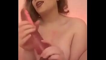Amelia Skye Fucks Big Dildo and Cums for Daddy
