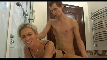Hot mom n150 blonde russian mature milf and a young man