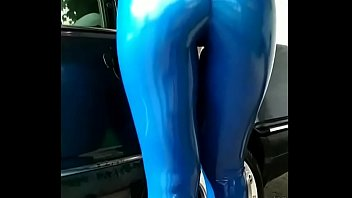 FRIEND'S WIFE WASHING THE CAR IN LEGGINGS