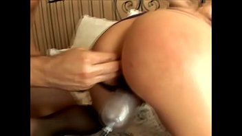 Stud fucks a hot blonde in sexy lingerie after using a pussy pump