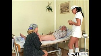 Hot naughty matures - Naughty hot nurse helps old patient to get laid